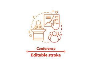 Conference concept icon