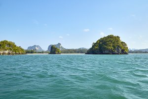 Island in the blue sky in Thailand