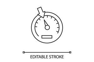 Speedometer linear icon