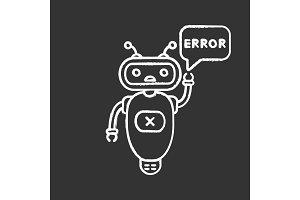 Error chatbot chalk icon