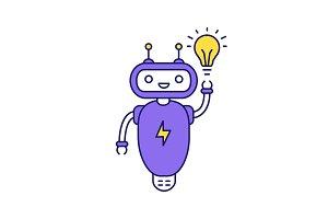 New idea chatbot color icon