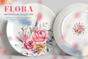FLORA. Watercolor Collection