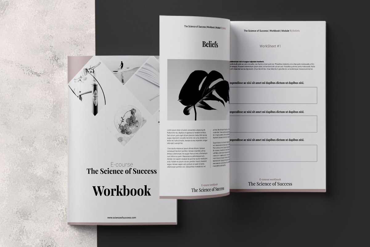 E-course Workbook InDesign Template ~ Magazine Templates ...