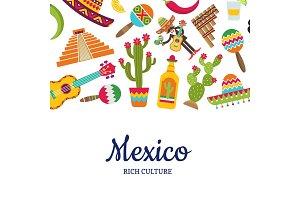 Vector flat Mexico attributes