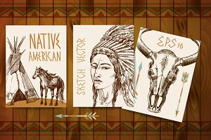 Vector native american