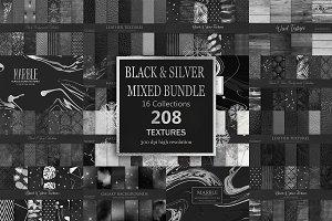 Black Silver Mix Bundle 208 Textures