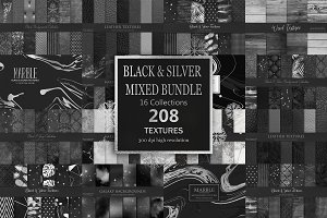 Black Marble Leather TexturesBUNDLE