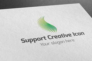 Support Creative Icon Logo