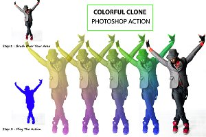 Colorful Clone Photoshop Action