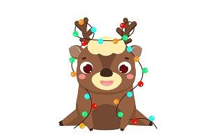 Cute Christmas deer.