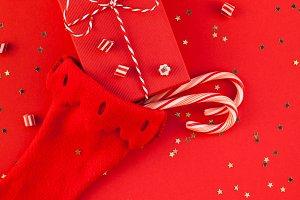 Christmas gift boxes in Noel sock