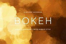 Bokeh | Water Bubbles Style + Gold
