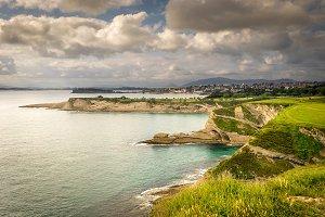 Panoramic view of Santander coast