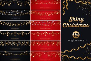 12 Shiny Christmas Banners