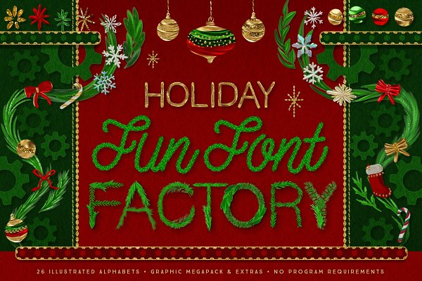Christmas Lettering, Graphics, Font…