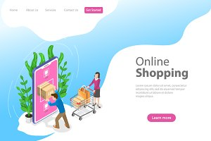 Landing page for mobile shopping