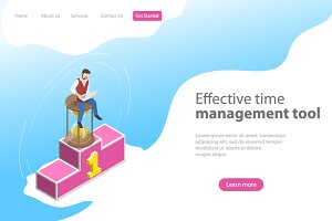 Landing page for time management