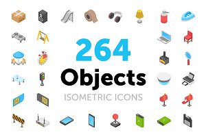 264 Isometric Objects Icons