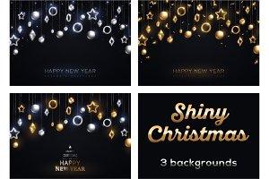 Set of 3 Cards for Christmas Design