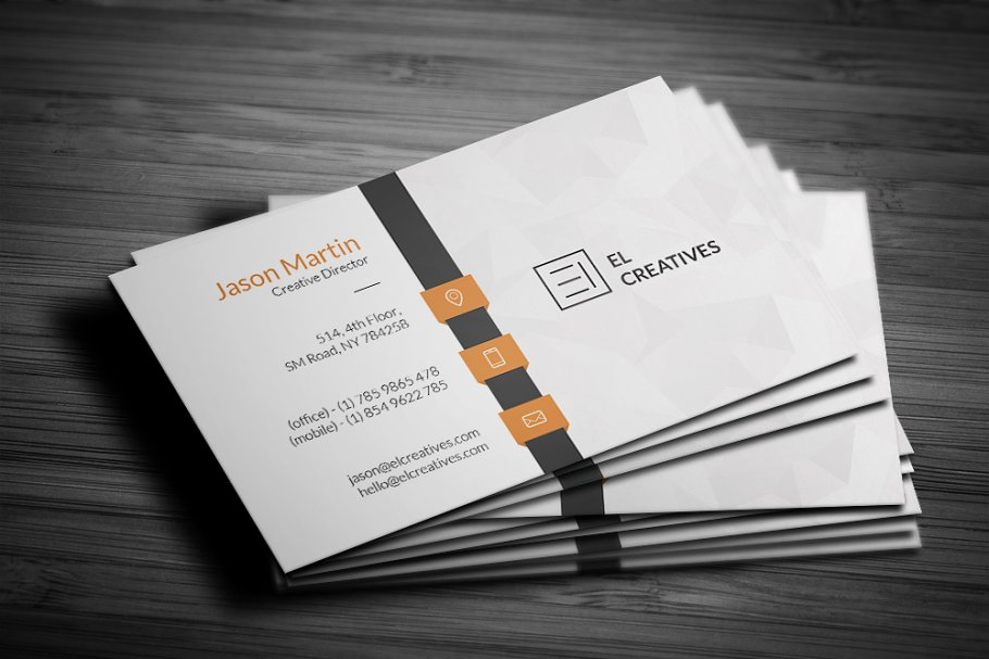 Corporate Business Card in Business Card Templates - product preview 3