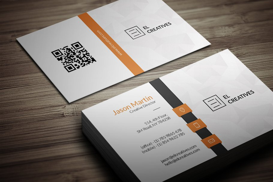 Corporate Business Card in Business Card Templates - product preview 2