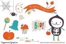 Halloween Clip Art  Cute Ghost Kids