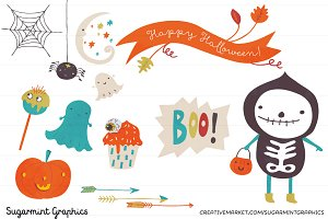 Halloween Clip Art  Cute Ghost Kids
