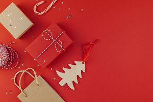 New Year or Christmas presents red b