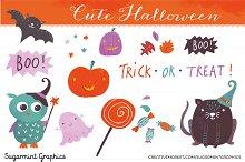 Halloween Clip Art  Cute Pumpkin