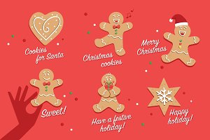 Christmas Cookie Badges