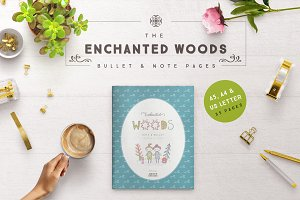Enchanted Woods Bullet & Note Pages