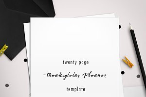 Design Your Own 20 Page Thanksgiving