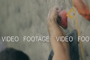 Hand climber closeup. Training