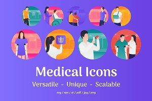 80 Medical Vector Icons
