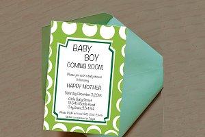 Baby Boy Editable Invitation.