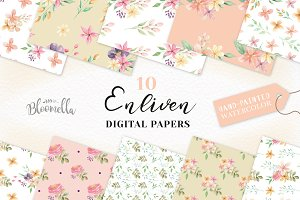 Pretty Seamless Patterns Floral Set