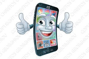 Mobile Phone Cell Mascot Cartoon