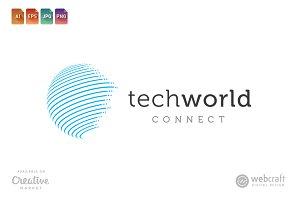 Tech World Connect Logo Template