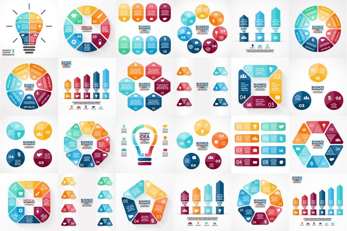 psd, eps, ai infographics ~ presentation templates ~ creative market