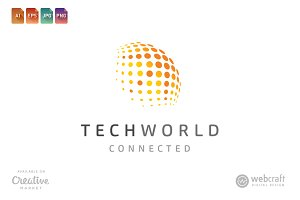 Tech World Logo Template
