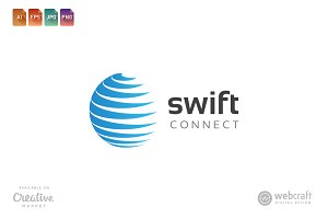 Swift Connect Logo Template