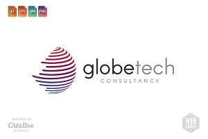 Globe Tech Logo Template