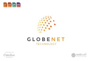 Globe Net Logo Template