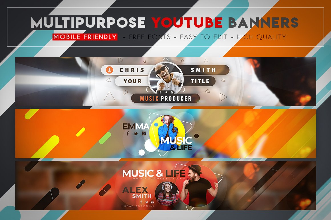 Creative MultiPurpose YouTube Banner