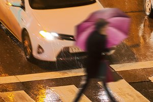 pedestrian citizen in danger