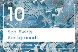 10 Sea Swirls Backgrounds