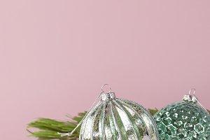 Vintage Christmas New Year balls