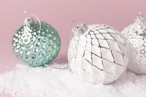 Vintage Christmas New Year balls
