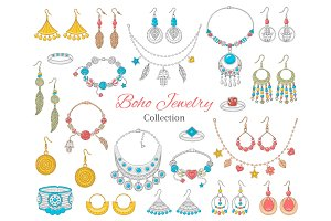 Fashionable boho jewelry collection