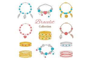 Women bracelets collection